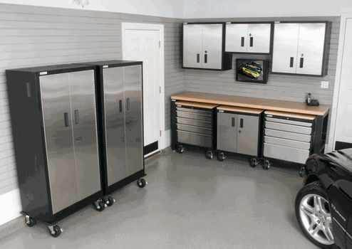 29 best stainless steel storage cabinets images on for Piece auto garage