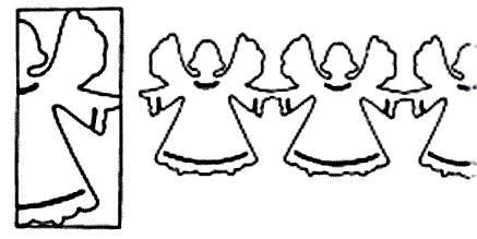 Klik hier om een kerstrand van engeltjes te maken