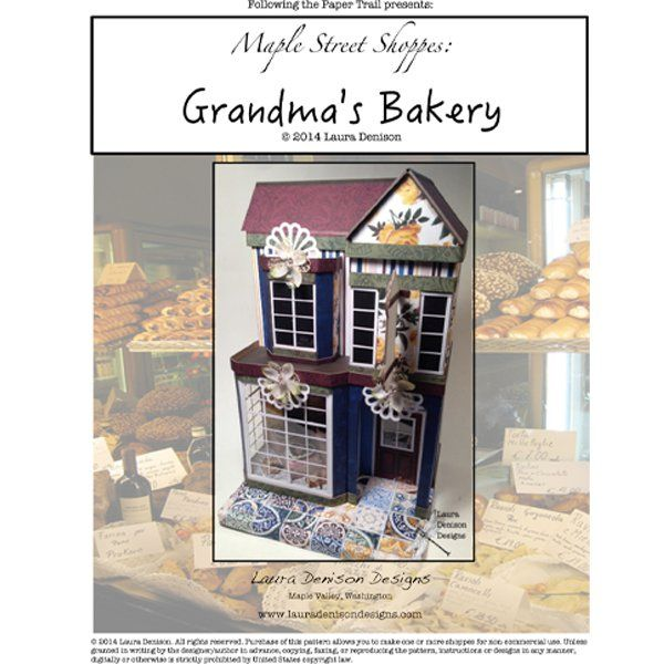 Here are the instructions to complete theMaple Street Grandma's Bakery.These instructions include the supply lists, instructions with photo's and any templates needed to complete the project. Thi...
