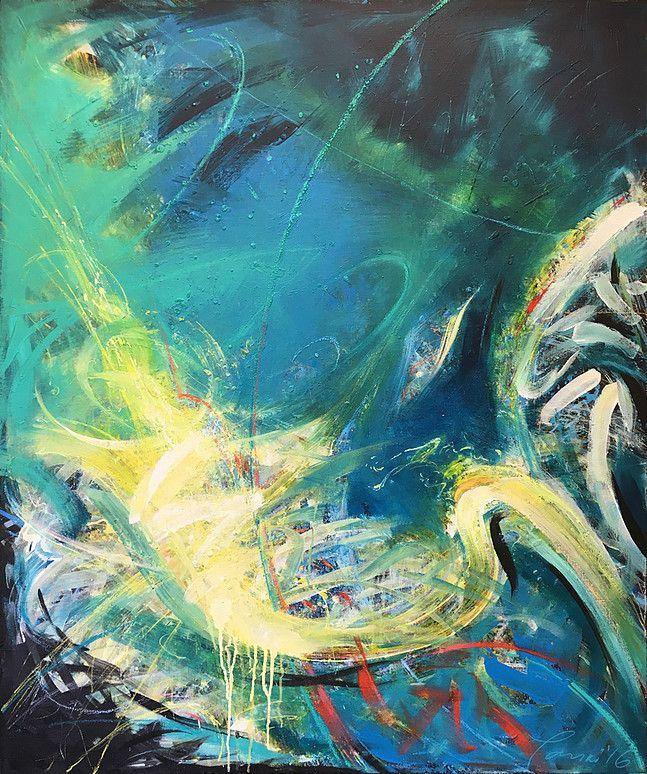 «Fractals-004» - abstrakt NON-figurativt maleri av Youri Ivanov – Jouris Kunst. 102x122 cm, akryl på lerret.