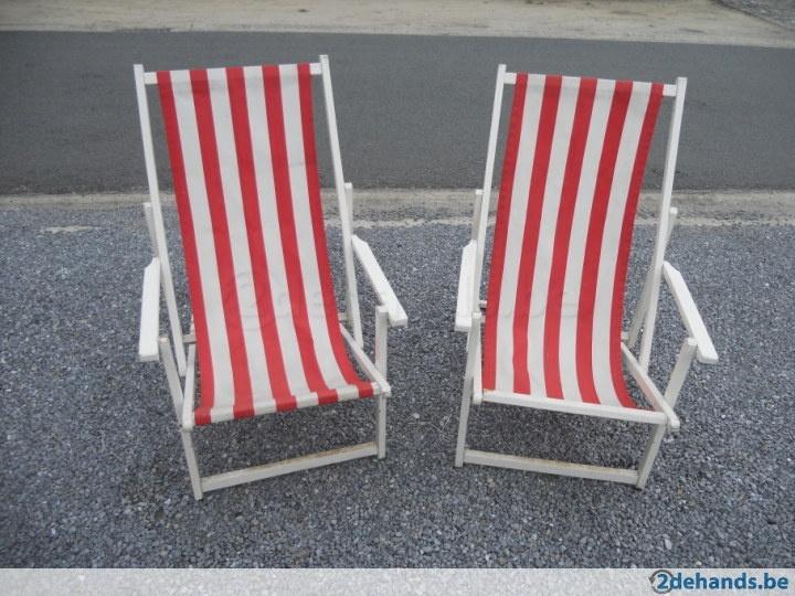 Vintage sixties strandstoelen
