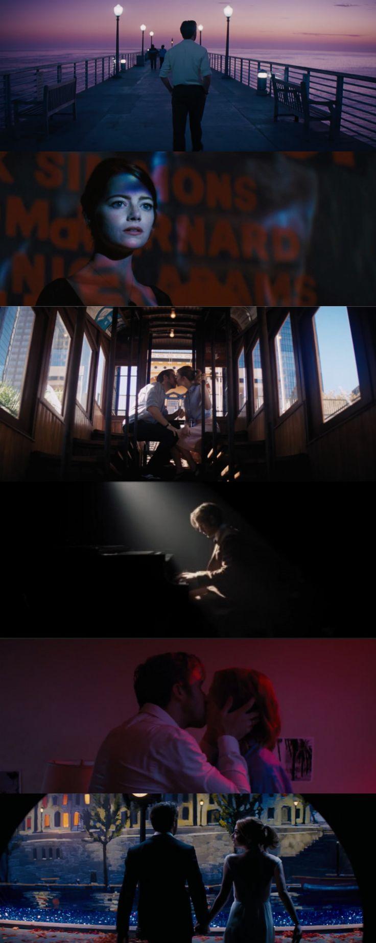 La La Land (2016), d. Damien Chazelle, d.p. Linus Sandgren ; Ryan Gosling & Emma Stone Comédie musicale