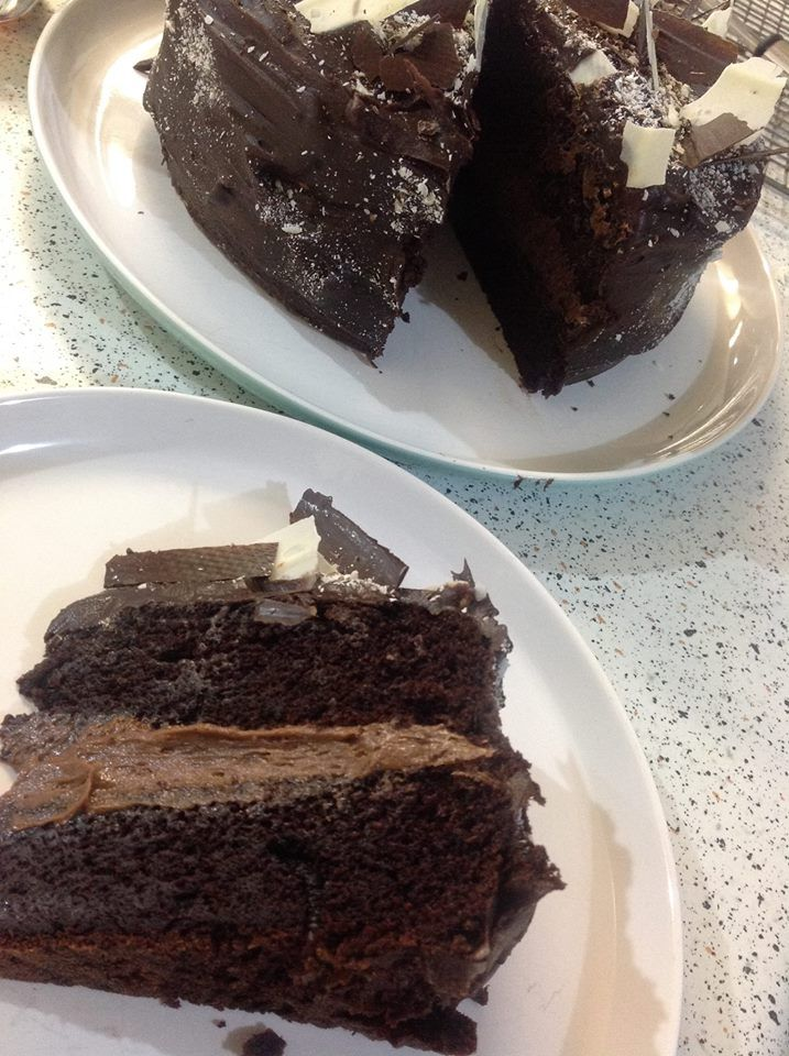 Big Giant Tick of Yum for this Cake. The ONLY chocolate cake recipe you will need from now on.