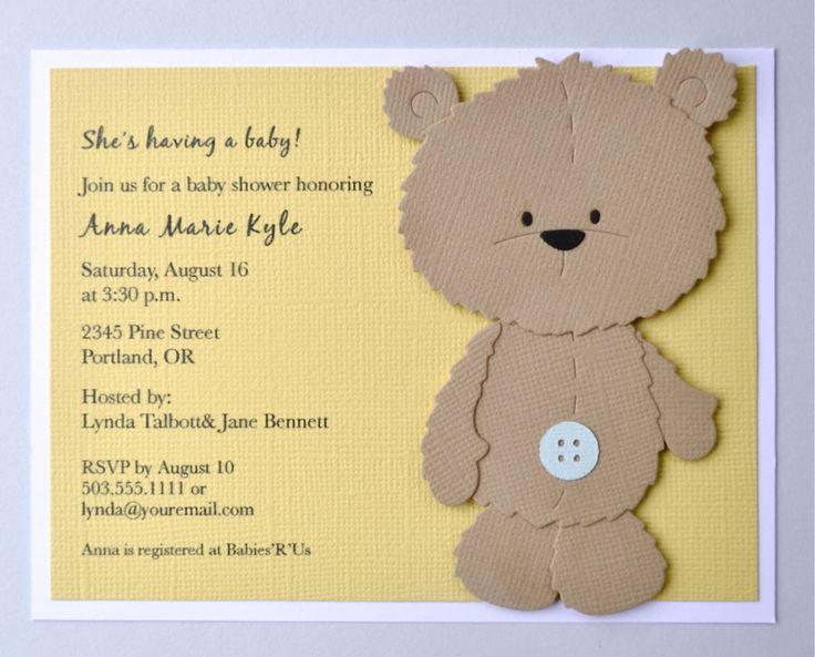 Image of Teddy bear invitation