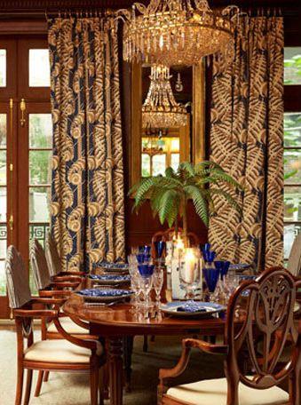 Tropical Dining Room - Kristen Kelli Interiors