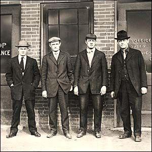 Arthur Davidson, Walter Davidson, William Harley and William Davidson - founders of Harley Davidson.