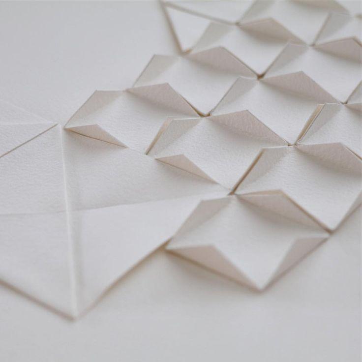 "Paper folds - Liz Sofield (@liz.sofield.artist) on Instagram: ""Detail fifteen"""