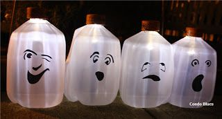 Condo Blues: Make Solar Milk Jug Ghosts