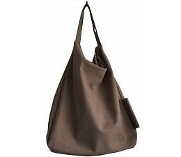 Zusss Shoulder bag imitation leather liver brown 46x46cm