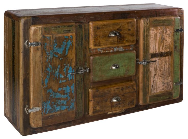 Love this! handcrafted wooden sideboard, build from reclaimed teak.