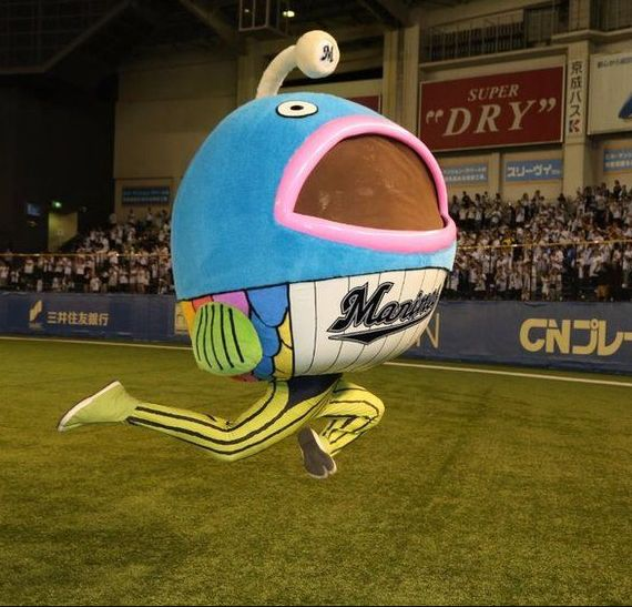Does any sports team have a better mascot then the Chiba Lotte Marines?