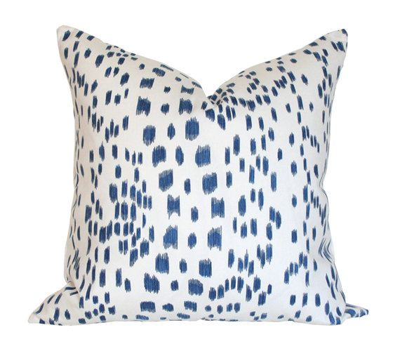 Les Touches Blue Pillow Cover Single-Sided Made-to-Order