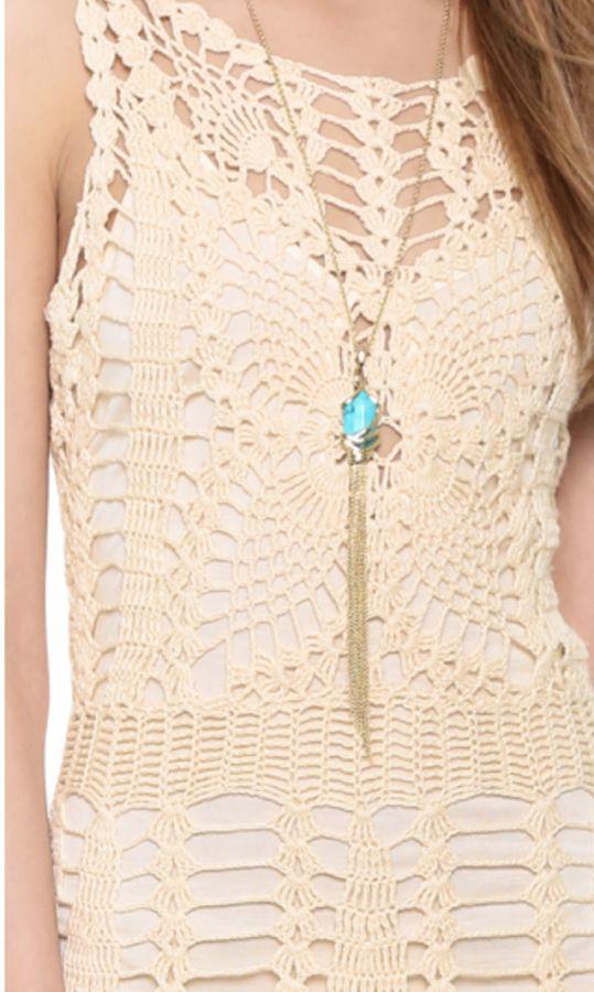 free people #crochet minidress