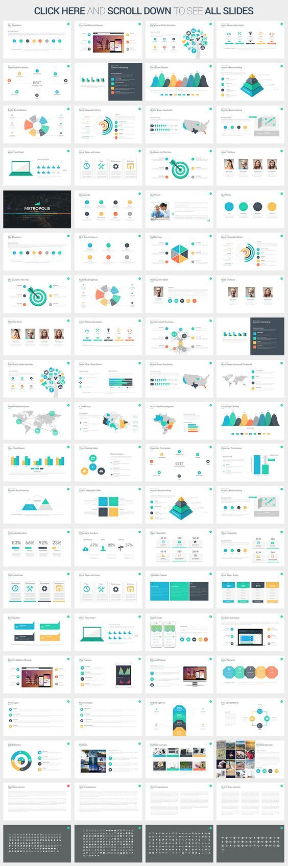 Metropolis Powerpoint Template by SlidePro on Creative Market