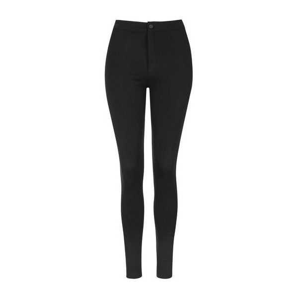 TopShop High-Waist Button Up Leggings ($36) ❤ liked on Polyvore featuring pants, leggings, black, topshop, high waisted legging pants, high waisted leggings, button fly pants and high-waist trousers