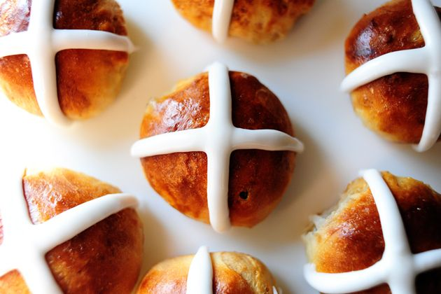 "Hot Cross Buns for Good Friday (Pioneer Woman)...  Sharing a hot cross bun with another is supposed to ensure friendship throughout the coming year, particularly if ""Half for you and half for me, Between us two shall goodwill be"" is said at the time."
