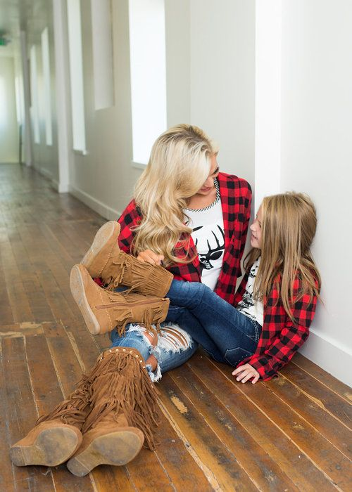 Plaid top, Long sleeve top, Boutique, online shopping, Online boutique, Ryleigh Rue, Kids clothing, Fall, fashion