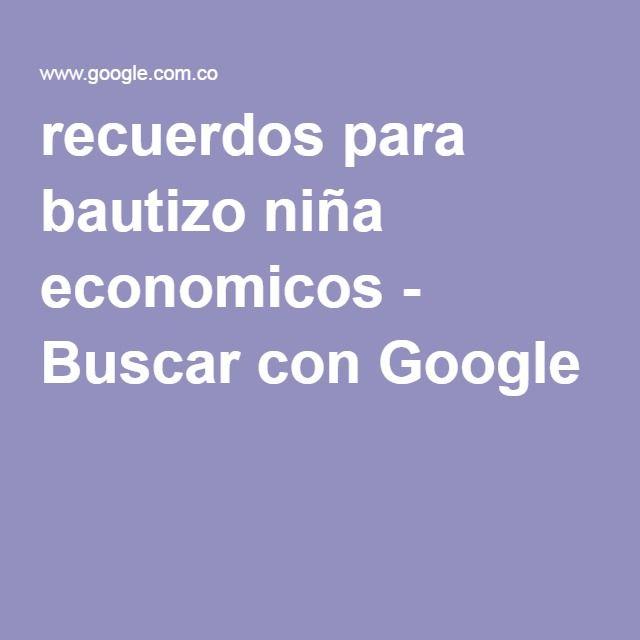 recuerdos para bautizo niña economicos - Buscar con Google