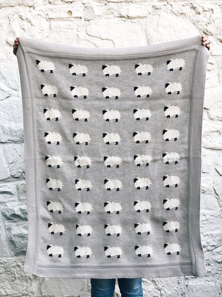 Cotton Knit Animal Blanket Freckled Hen Farmhouse