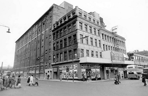 The Apollo Building Renfrew Street 1975 by Gordon Waddell, via Flickr