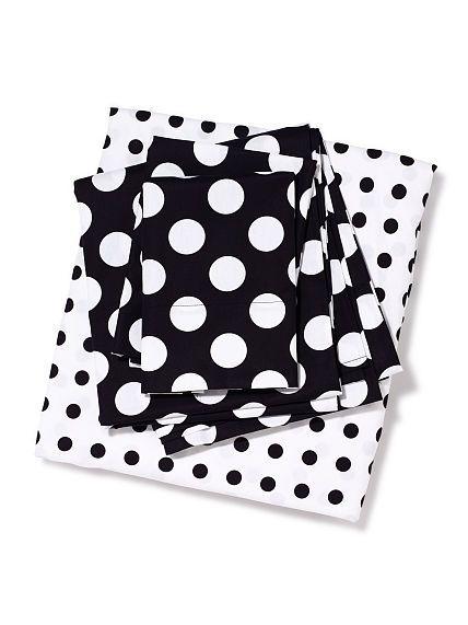 black and white polka dot sheet set vspink bedding