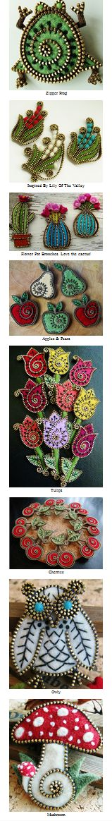 Delightfully cute felt & zipper crafts by Odile Gova aka woolyfabulous.