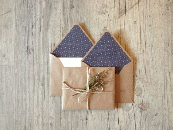 Writing set - crafted envelopes - handmade stationary - writing paper eco friendly - recycled kraft brown envelope - europeanstreetteam