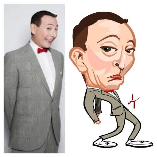 Pee-Wee Herman #cartoon #art #paint #best #favorite #caricature #Pee-Wee #Herman