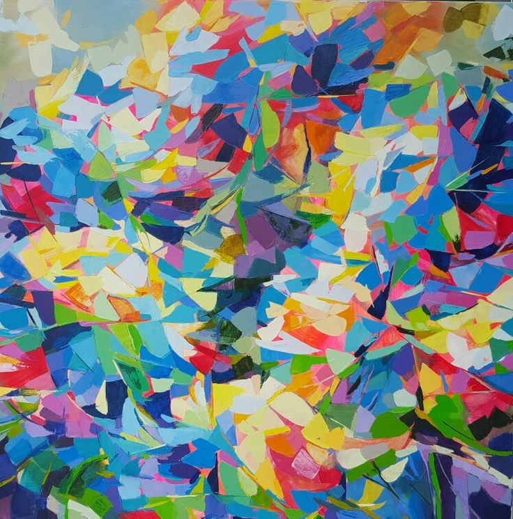 "Another of the ""Fractured"" series. Oil on canvas. Jenni Stringleman. 92cm square."