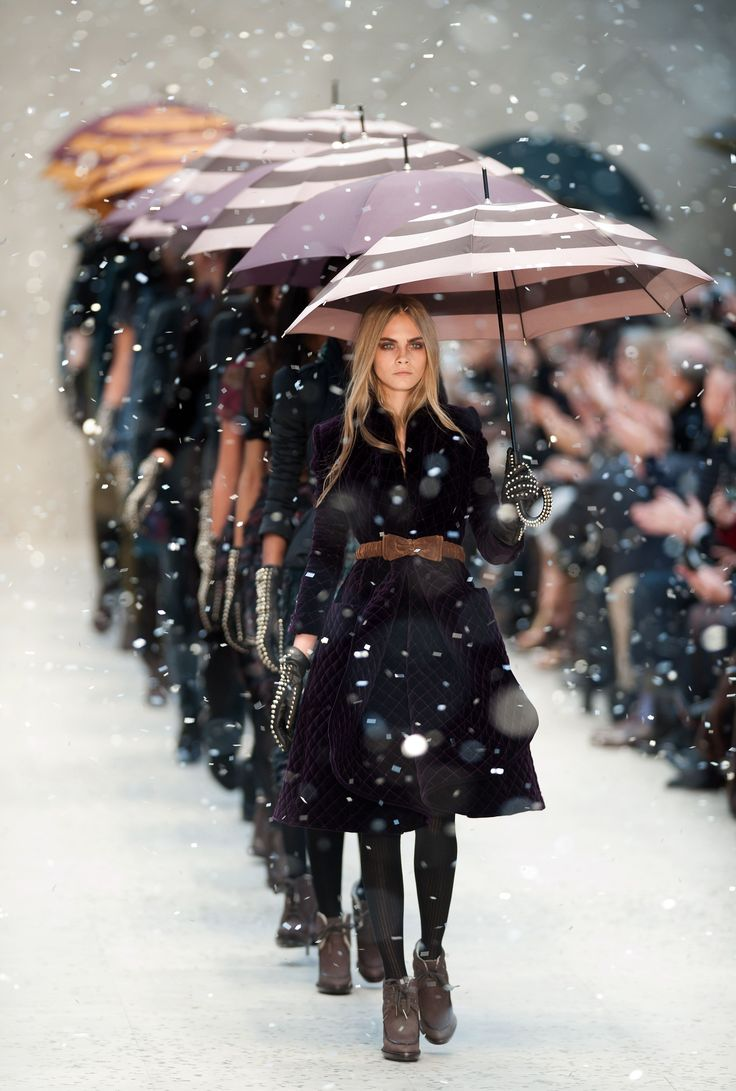 Burberry Showers #runway #backtofall