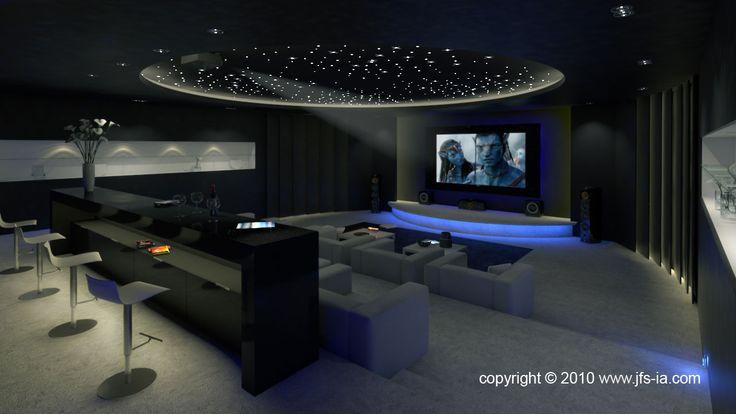 17 mejores ideas sobre salas de cine en pinterest sala - Sala de cine en casa ...