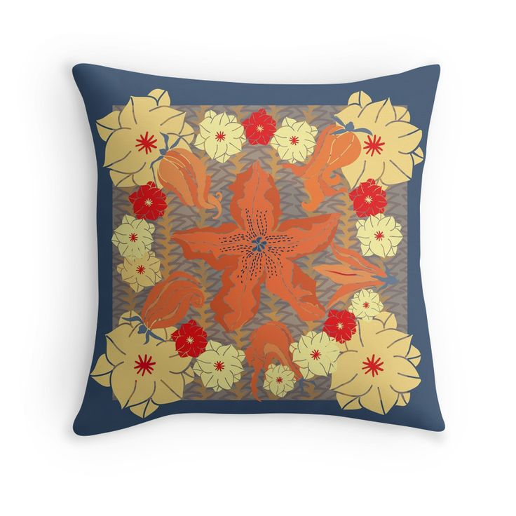 """""""Zucchini FlowerPower"""" Throw Pillows by SDStudio 