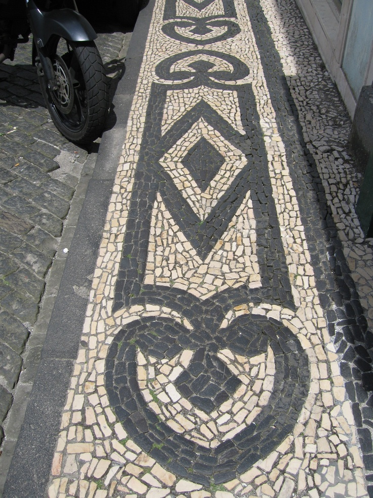 Faial, Azores. One of many examples of beautiful cobblestone patterns in the Azores