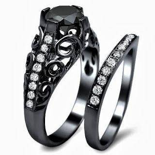 Black Round Diamond Engagement Ring Bridal SetStore Diamond Engagement RingDiamond Engagement Ring
