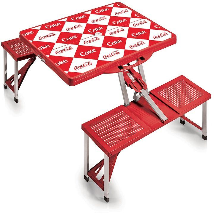 Picnic Time Outdoor Coca-Cola Portable Picnic Table
