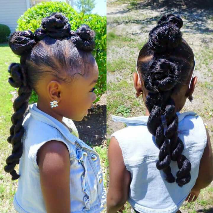 Hairstyles For Black Little Girls adorable braided style for girls kids braided hairstyleschild hairstyleskids hairstylenatural Go Follow Blackgirlsvault For More Celebration Of Black Beauty Excellence And Culture