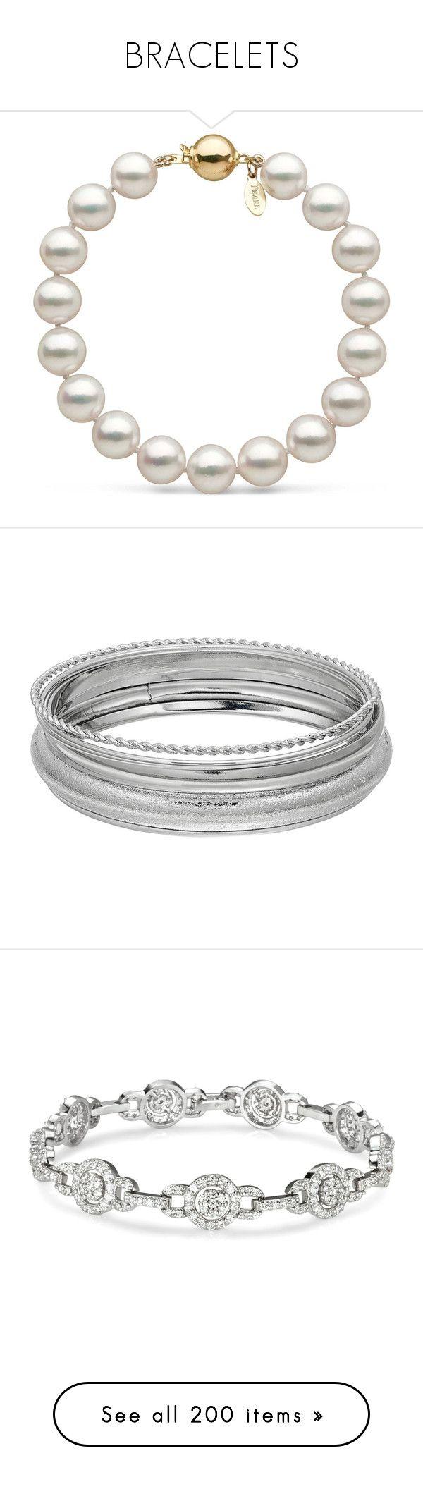 """""""BRACELETS"""" by laurajimenezp98 ❤ liked on Polyvore featuring jewelry, bracelets, 14k bangle, 14 karat gold jewelry, pearl jewelry, pearl jewellery, rose jewellery, plus size, silver and bangle bracelet"""