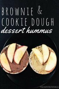 Brownie & Cookie Dough Dessert Hummus