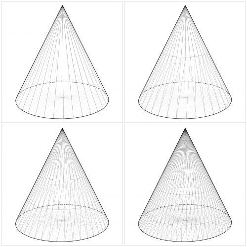 Geometry 3D Shapes \u2013 Cones Clip Art 3d shapes, Geometry, Shapes