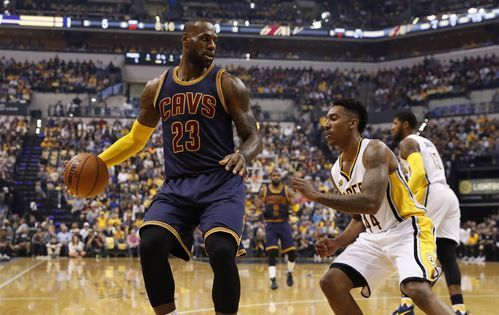 Cleveland Cavaliers forward LeBron James (23) is guarded by Indiana Pacers guard Jeff Teague (44) in game four of the first round of the 2017 NBA Playoffs at Bankers Life Fieldhouse.(Photo: Brian Spurlock-USA TODAY Sports)     INDIANAPOLIS – LeBron James feasted at the rim, Kyrie Irving...  http://usa.swengen.com/lebron-james-cavs-sweep-pacers-advance-to-second-round-of-nba-playoffs/