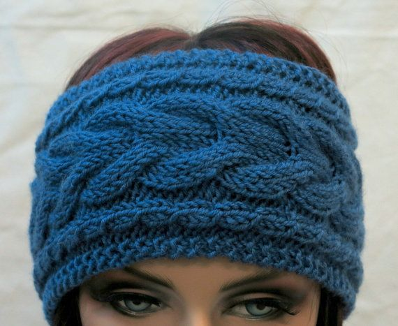 Hey, I found this really awesome Etsy listing at https://www.etsy.com/listing/204031219/wool-knit-headbandblue-hand-knit
