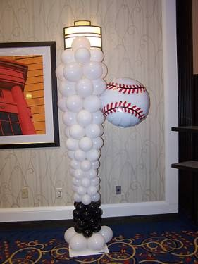 how to make balloon pillar stand