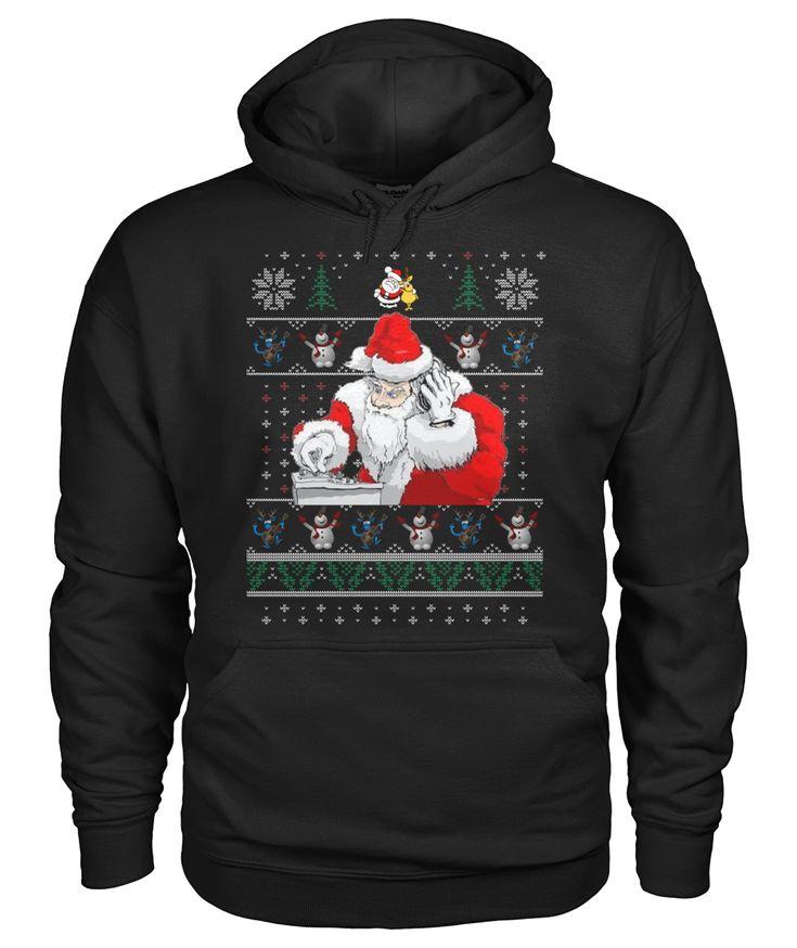 DJ Santa And Friends Christmas Gift #christmas #idea #hoodie #dj #santa #santaclause