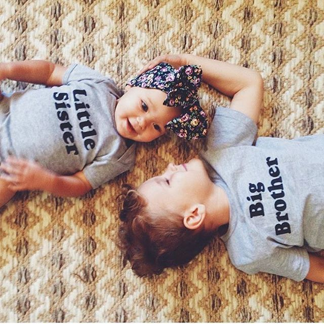 Big Brother + Little Sister. #thebeeandthefox #bigbrother #bigsister  by @thebroekemeiertribe