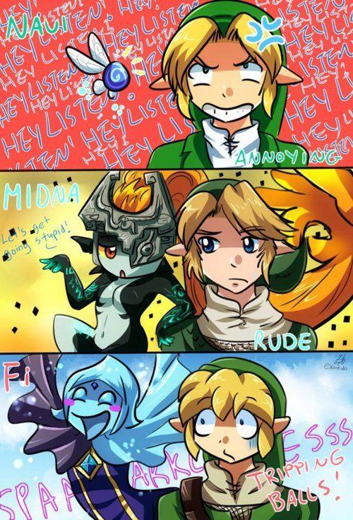 Molestas compañeritas en Zelda