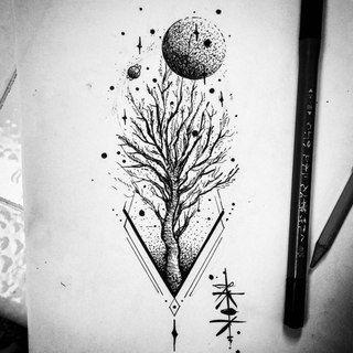 Только эскизы тату / Татуировка / Sketch tattoo