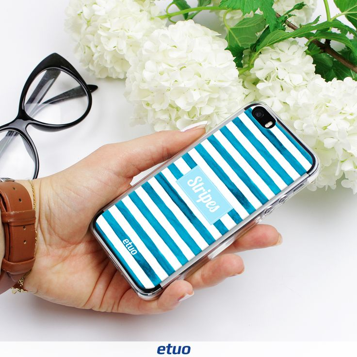 White-blue stripes <3 from new collection:   Summer Vibes #stripes #case #summer #summervibes #style #fashion