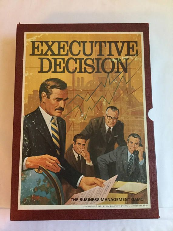 3M Executive Decision 3M Bookshelf Game Executive Decision