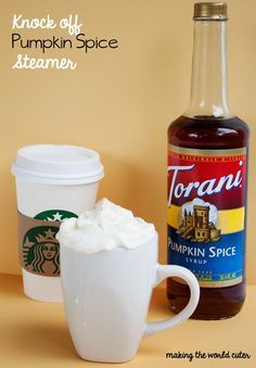 Starbucks Knockoff Steamers - I'm pinning this under TRIED cuz I did try the Torani syrup with hot chocolate, 1 T. And it was delicious. :)