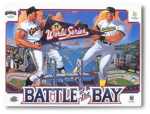 Classic 1989 World Series Poster. Oakland A's swept the San Francisco Giants to win their fourth World Series Championship. I remember it well.